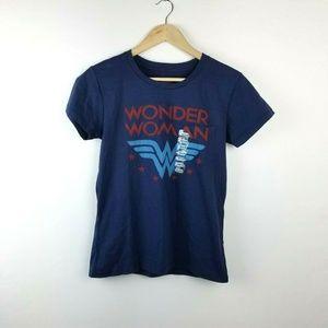 NWT Wonder Woman Blue Graphic T Shirt Sizes S-XL